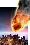 Science Photo Library - Meteor fireball over...