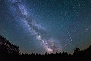 Meteor Originals - Meteor Milky way  by Michael Ver Sprill