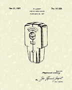 Parking Drawings - Meter Housing 1937 Patent Art by Prior Art Design