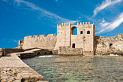 Medieval Entrance Posters - Methoni Venetian Fortress Poster by Gabriela Insuratelu