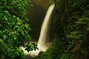 Eagle Creek Prints - Metlako Falls Print by Jeff  Swan