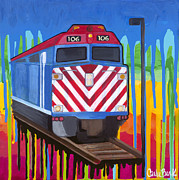 Carla Bank - Metra train
