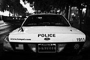 Patrol Car Framed Prints - metro metropolitan police squad patrol police car Las Vegas Nevada  Framed Print by Joe Fox