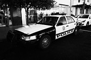 Patrol Car Prints - metro metropolitan police squad patrol police car Las Vegas Nevada USA Print by Joe Fox