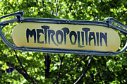 Metropolitain Framed Prints - Metro Sign Framed Print by Norman Pogson