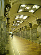 Metro Station Saint Petersburg Russia Print by Robert Ford