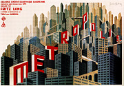 Metropolis Digital Art Prints - Metropolis Movie Poster Print by Digital Reproductions