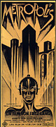 Vintage Movie Posters Art - Metropolis Poster by Sanely Great