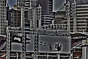 Abstract Baseball Prints - Metropolis  Print by Steve Johnson
