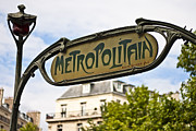 Metro Art Photo Framed Prints - Metropolitain - Parisian Art Nouveau Framed Print by Georgia Fowler