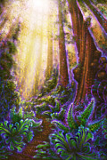 Tree Ferns Digital Art - Metta Grove by Simon  Haiduk