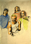 Metallica Drawings - Mettalica by Salman Ravish