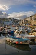 Fishing Village Posters - Mevagissey Poster by Louise Heusinkveld