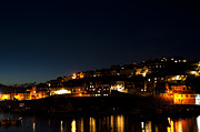 Quayside Prints - Mevagissy Nights Print by Anne Gilbert