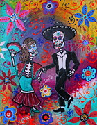 Pristine Cartera Turkus Prints - Mexican Couple Bailar Dancers Mariachi Print by Pristine Cartera Turkus