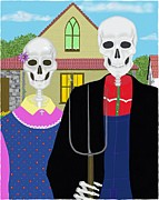Calaca Digital Art - Mexican Gothic by Britt Cagle