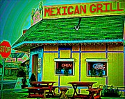Olive Green Framed Prints - Mexican Grill Framed Print by Chris Berry