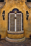 Tiled Framed Prints - Mexican Hacienda Fountain II Framed Print by Lee Dos Santos