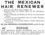 Toiletry Prints - Mexican Hair Renewer, 1892 Print by Granger