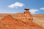 Butte Posters - Mexican Hat Rock Poster by Christine Till