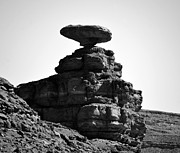 White Sandstone Prints - Mexican Hat Rock Print by David Lee Thompson