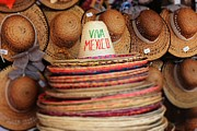Straw Hats Photos - Mexican hats by Sophie Vigneault