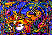 South American Prints - Mexican Music Print by Leon Zernitsky