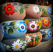 Karyn Robinson Metal Prints - Mexican Pottery in Old Town Metal Print by Karyn Robinson