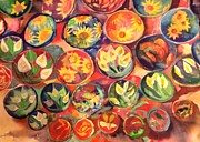 Pottery Paintings - Mexican Pottery by Wendy Hill
