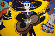 Graffiti Wall Art Posters - Mexican Skeleton Folk Art Poster by Bob Christopher