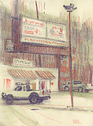 Plein Air Drawings - Mexican Take Out by Donald Maier