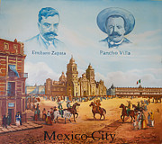 Emiliano Zapata Framed Prints - Mexico City Framed Print by Yuriy Somov