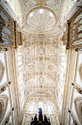 Sculptured Posters - Mezquita Cathedral Ceiling in Cordoba Poster by Artur Bogacki