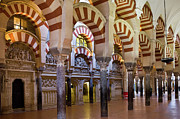 Support Framed Prints - Mezquita Prayer Hall in Cordoba Framed Print by Artur Bogacki