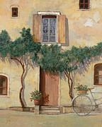 Mezza Bicicletta Sul Muro Print by Guido Borelli