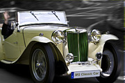 Mobiles Framed Prints - MG Classic Car in Action Framed Print by Heiko Koehrer-Wagner