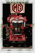 Curt Johnson Metal Prints - MG NE Frontal with Logo Metal Print by Curt Johnson