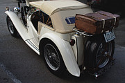 Curt Johnson Art - MG TC PreTrip Check by Curt Johnson