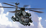 Vietnam Air War Art Metal Prints - MH-53J Pavelow III Metal Print by Dale Jackson