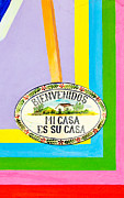 Invitations Framed Prints - Mi Casa es Su Casa Framed Print by David Perry Lawrence