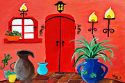 Interior Still Life Paintings - Mi Casa by Sherry Allen
