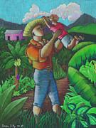 Mi Futuro Y Mi Tierra Print by Oscar Ortiz