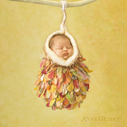Baby Art Prints - Mia 4 weeks Print by Anne Geddes