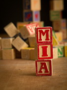Alphabet Metal Prints - MIA - Alphabet Blocks Metal Print by Edward Fielding