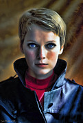 Sinatra Paintings - Mia Farrow by Tyler Robbins