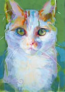Feline Paintings - Mia by Kimberly Santini