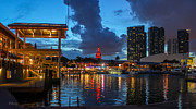 Miami Heat Photo Prints - Miami Bayside #2 Print by Rene Triay Photography
