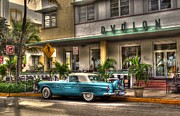 Miami Beach Art Deco 1 Print by Timothy Lowry