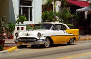 Roadside Art Framed Prints - Miami Beach Classic Car Framed Print by Frank Romeo