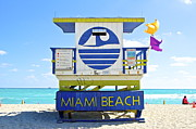Instagram Posters - Miami Beach Lifeguards Poster by Galexa Ch